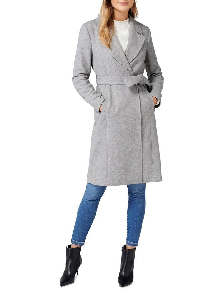 Eden Herringbone Wrap Coat image 5