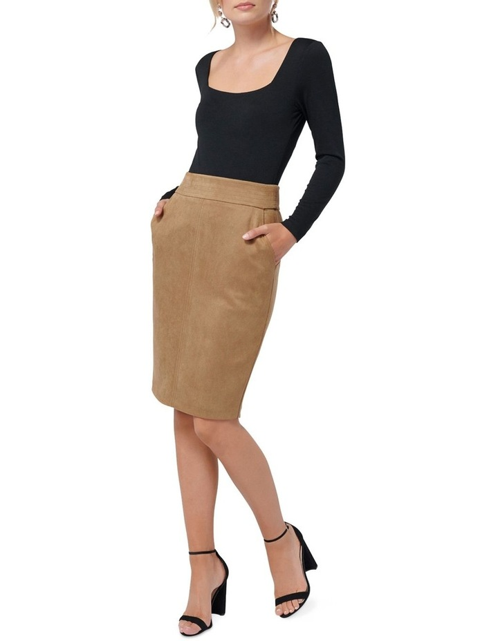 Tammy Suedette Pencil Skirt image 4
