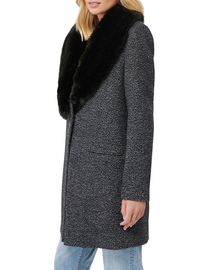 Layla Textured Crombie Coat image 2