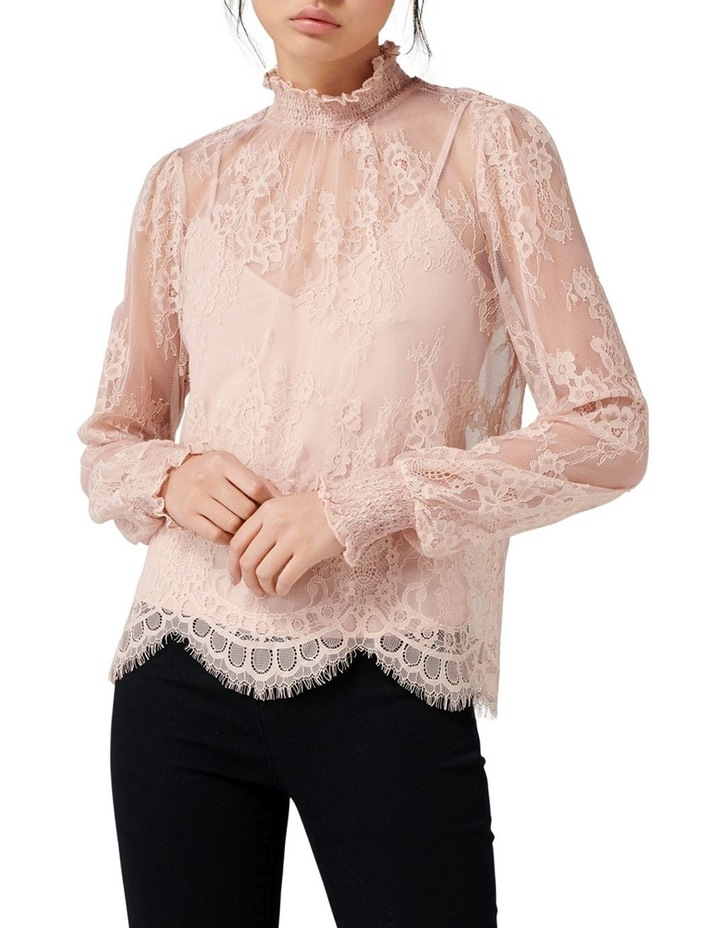 Azura Lace Shirred Neck Top image 1