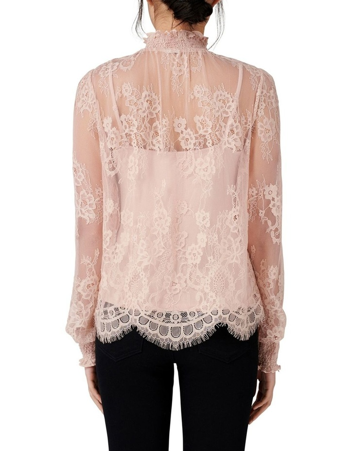 Azura Lace Shirred Neck Top image 3