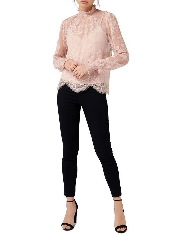 Azura Lace Shirred Neck Top image 4