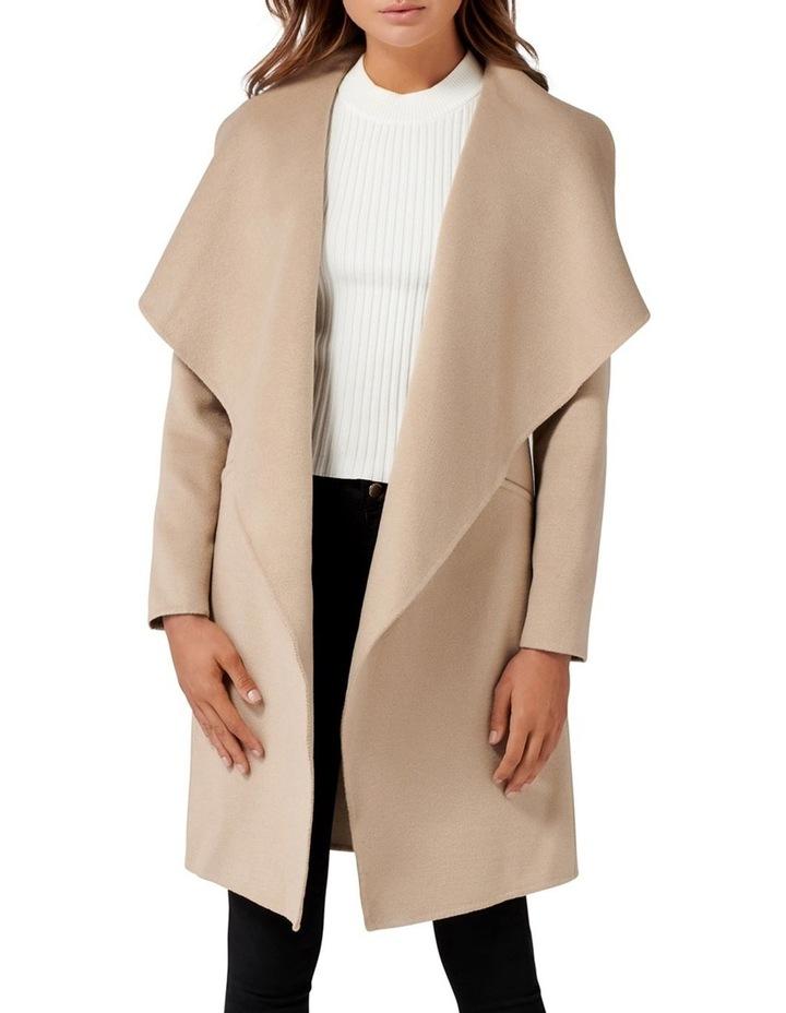Megan Felled Seam Wrap Coat Petite image 1