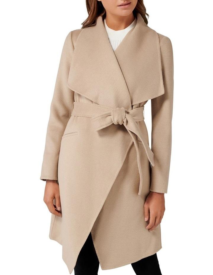 Megan Felled Seam Wrap Coat Petite image 2