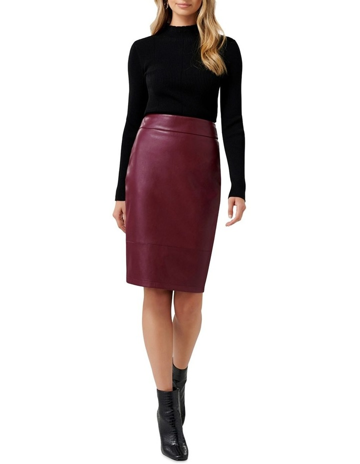 Amy PU Pencil Skirt image 4