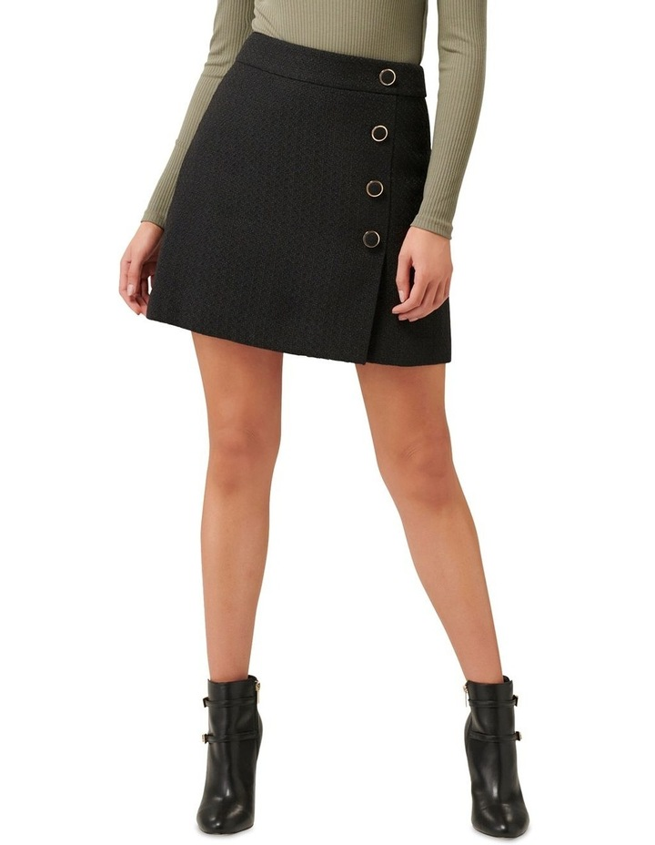 Zoey Button Front Boucle Mini Skirt image 1