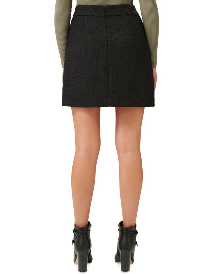 Zoey Button Front Boucle Mini Skirt image 3