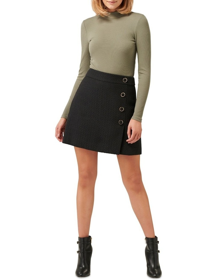 Zoey Button Front Boucle Mini Skirt image 4