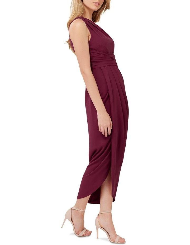 Mandy Petite One Shoulder Drape Maxi Dress image 3