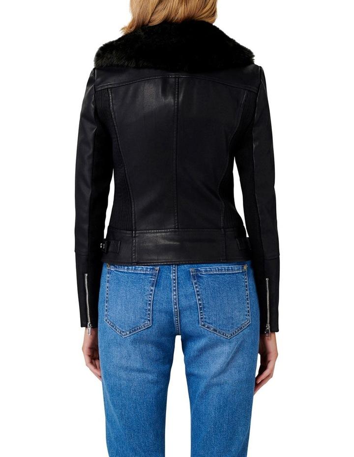 Tessa Pu Fur Collar Biker Jacket image 4