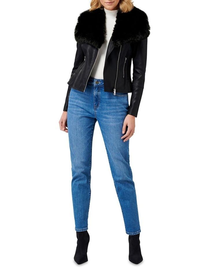 Tessa Pu Fur Collar Biker Jacket image 5