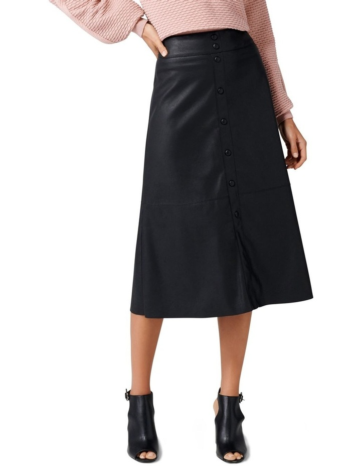 Abbie A Line PU Button Down Skirt image 1