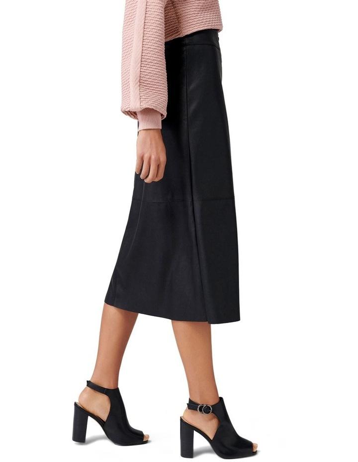 Abbie A Line PU Button Down Skirt image 2