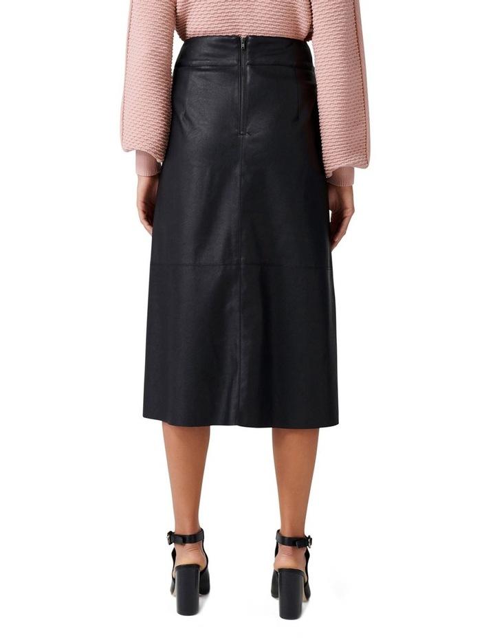 Abbie A Line PU Button Down Skirt image 3