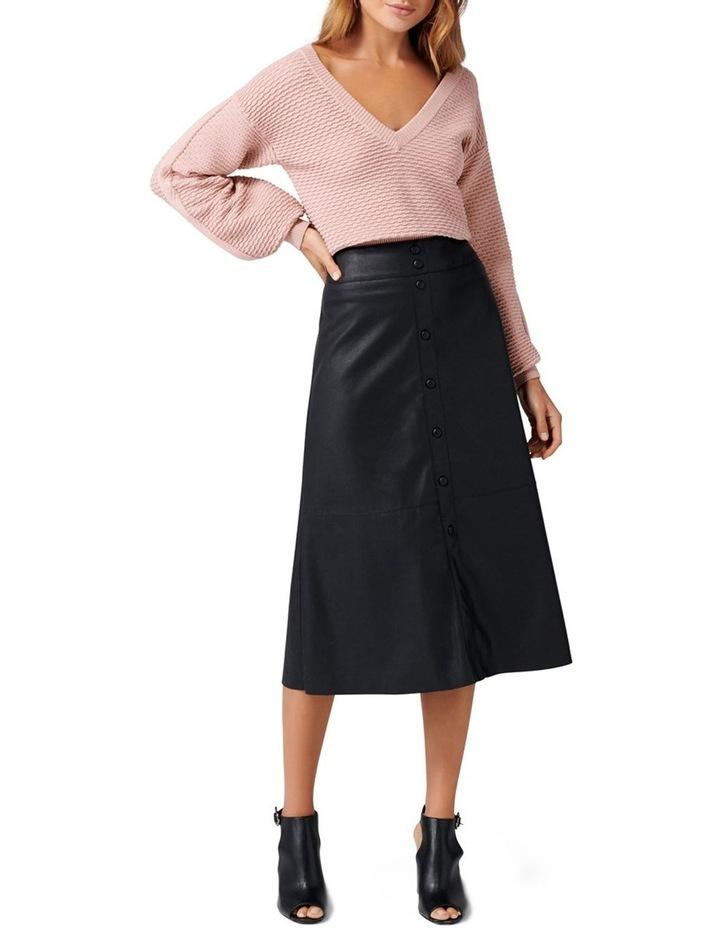 Abbie A Line PU Button Down Skirt image 4