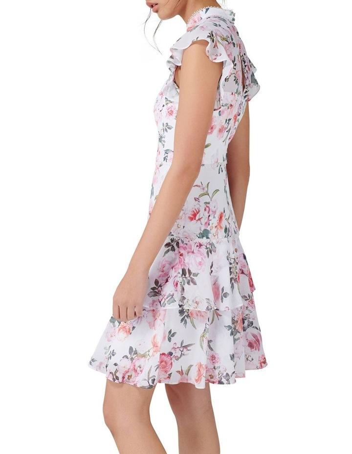 Amy Ruffle Sleeve Skater Dress image 3