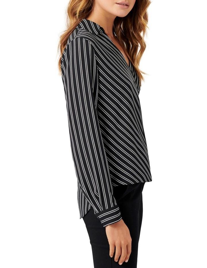 Cassie Collar Button Wrap Blouse image 2