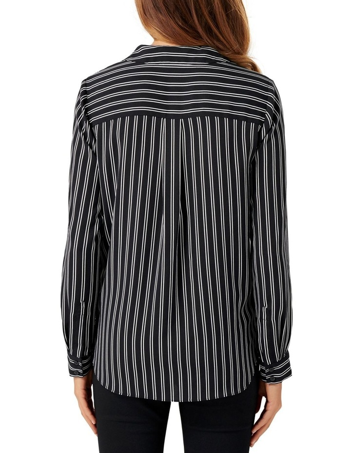 Cassie Collar Button Wrap Blouse image 3