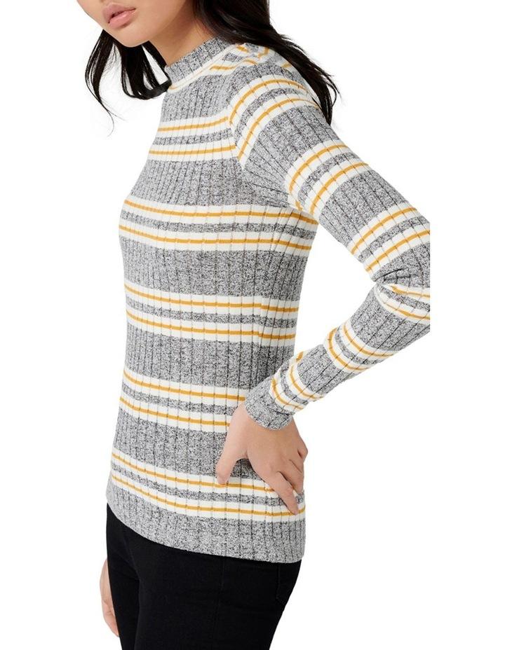 Penelope Rib Stripe Roll Neck image 2