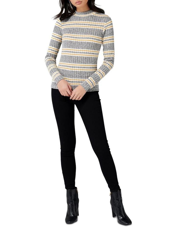Penelope Rib Stripe Roll Neck image 4