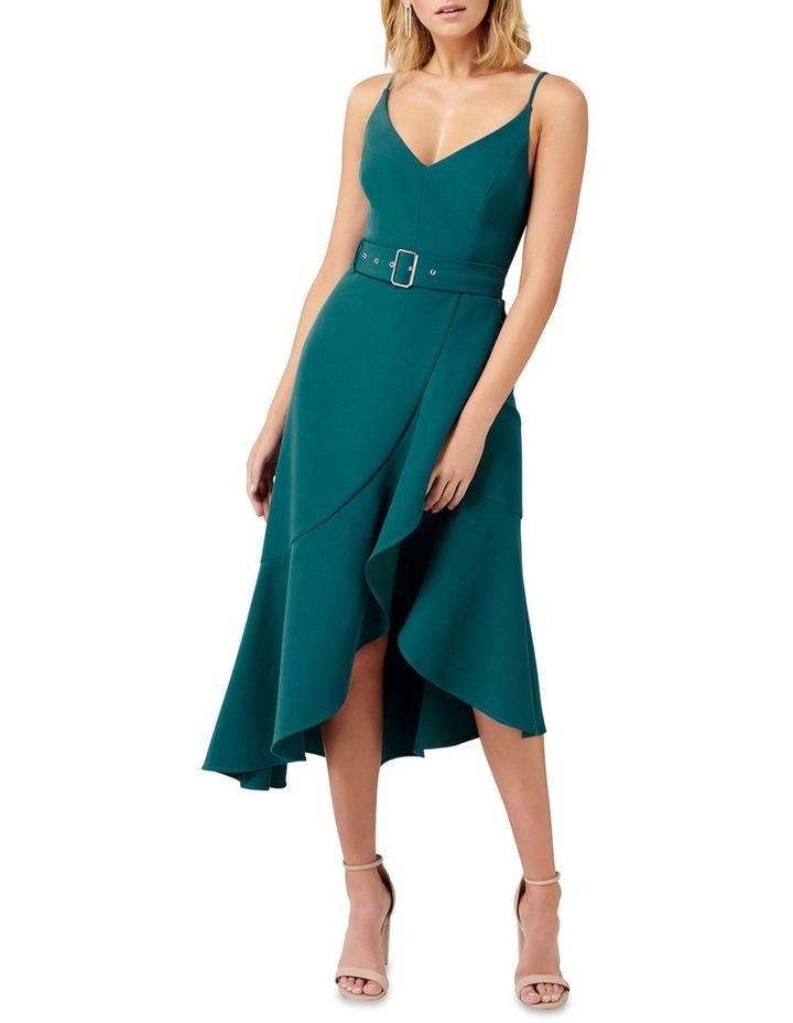 Isabella Belted Ruffle Hem Dress image 1