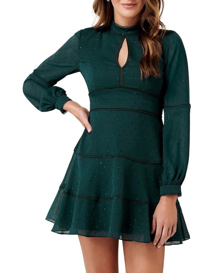 Annika Blouson Sleeve  Petite Skater Dress image 1