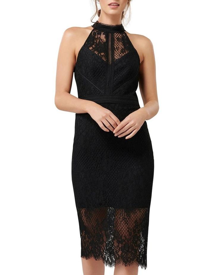 Lena High Neck Lace Bodcyon Dress image 1