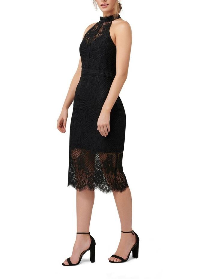 Lena High Neck Lace Bodcyon Dress image 3