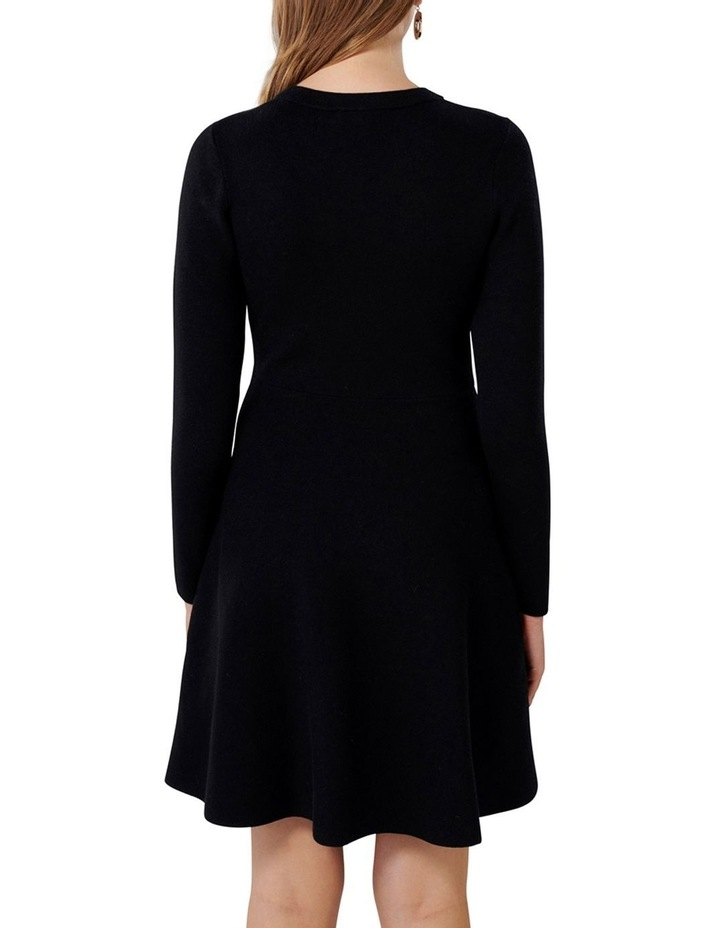 Danielle Lace Up Front Knit Dress image 3