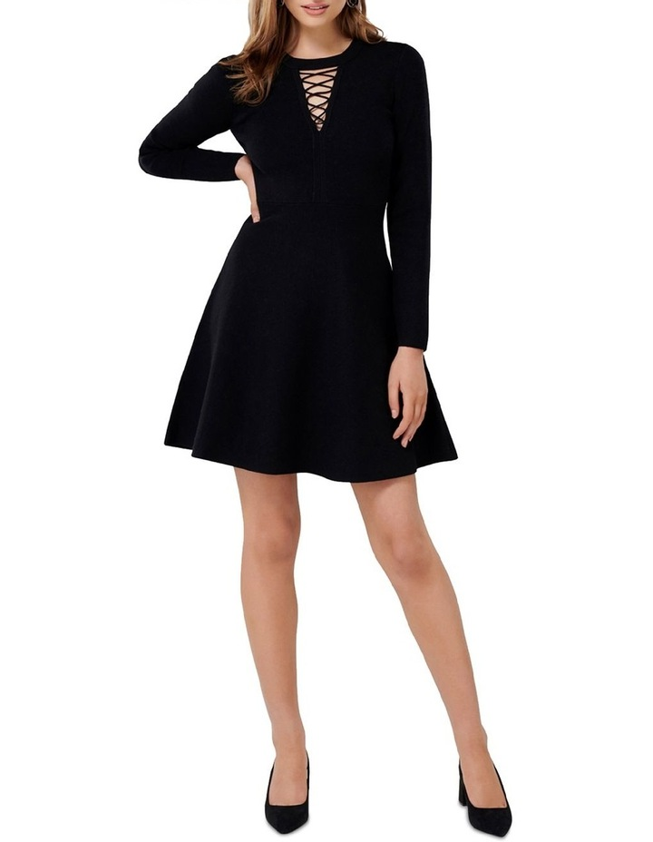 Danielle Lace Up Front Knit Dress image 4