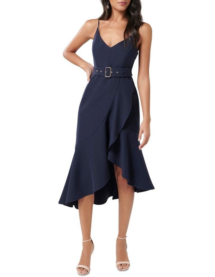 Isabella Petite Belted Ruffle Hem Dress image 1