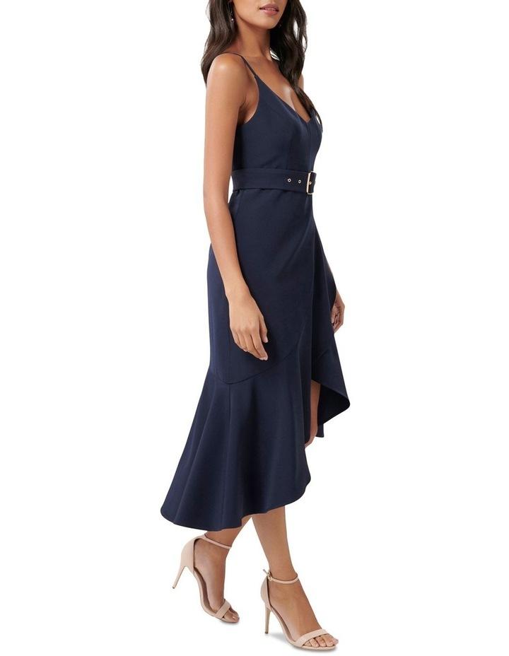 Isabella Petite Belted Ruffle Hem Dress image 3