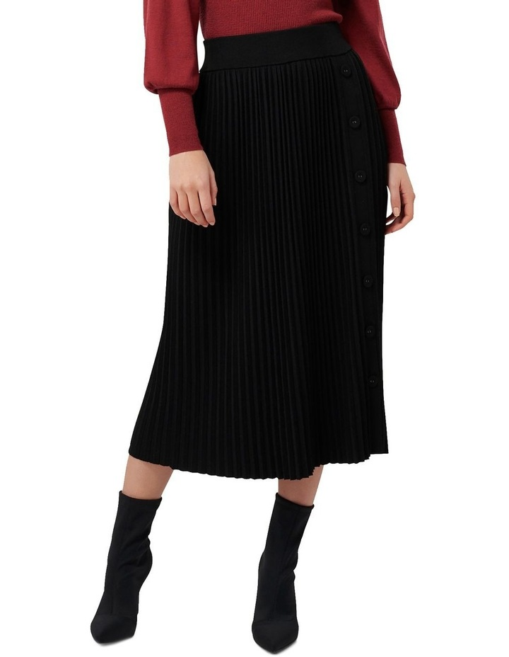 Molly Pleated Button Knit Skirt image 1
