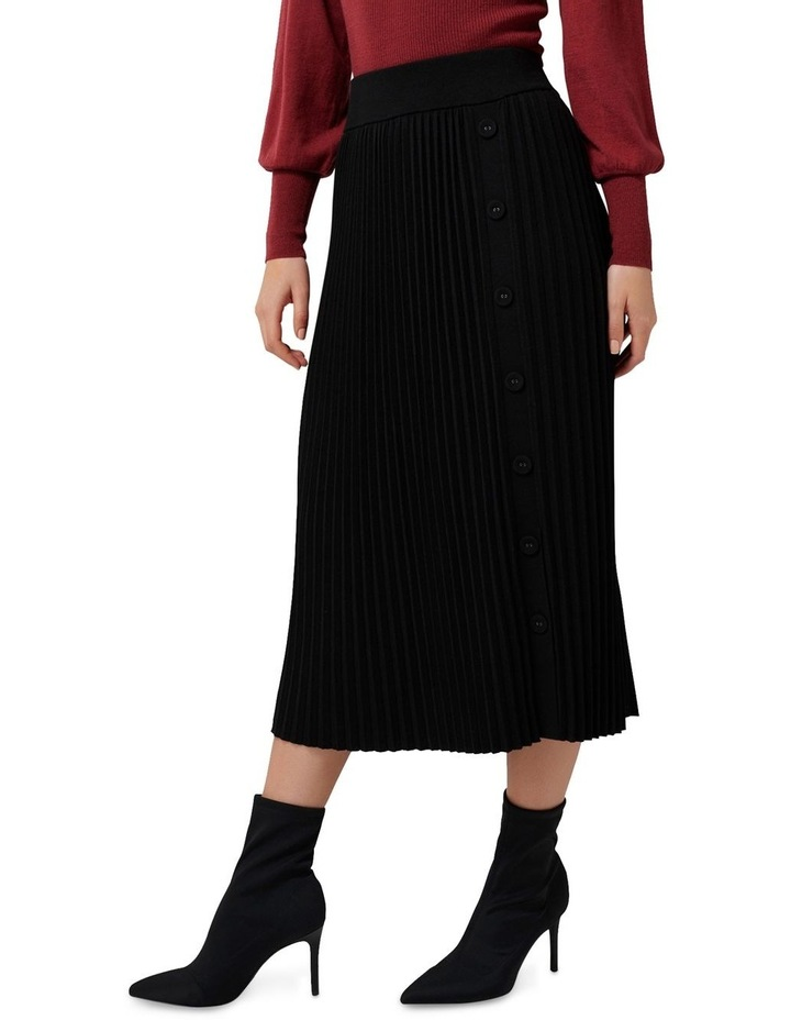 Molly Pleated Button Knit Skirt image 2