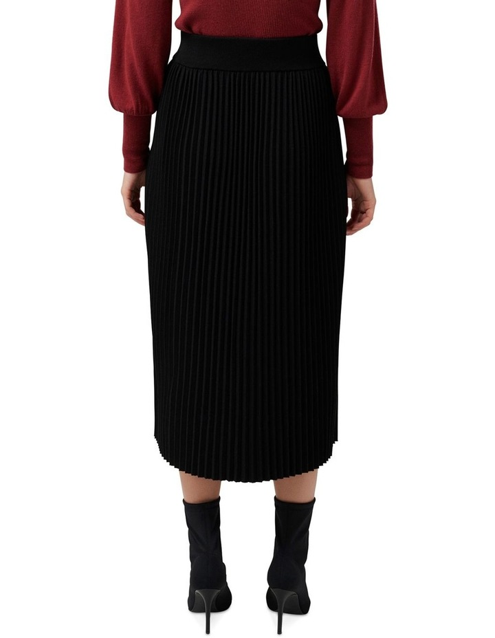 Molly Pleated Button Knit Skirt image 3