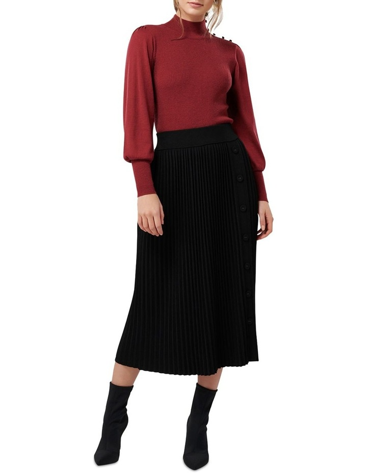 Molly Pleated Button Knit Skirt image 4