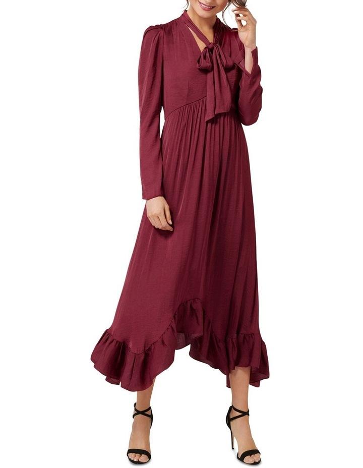Vicky Tie Neck Hanky Hem Dress image 1