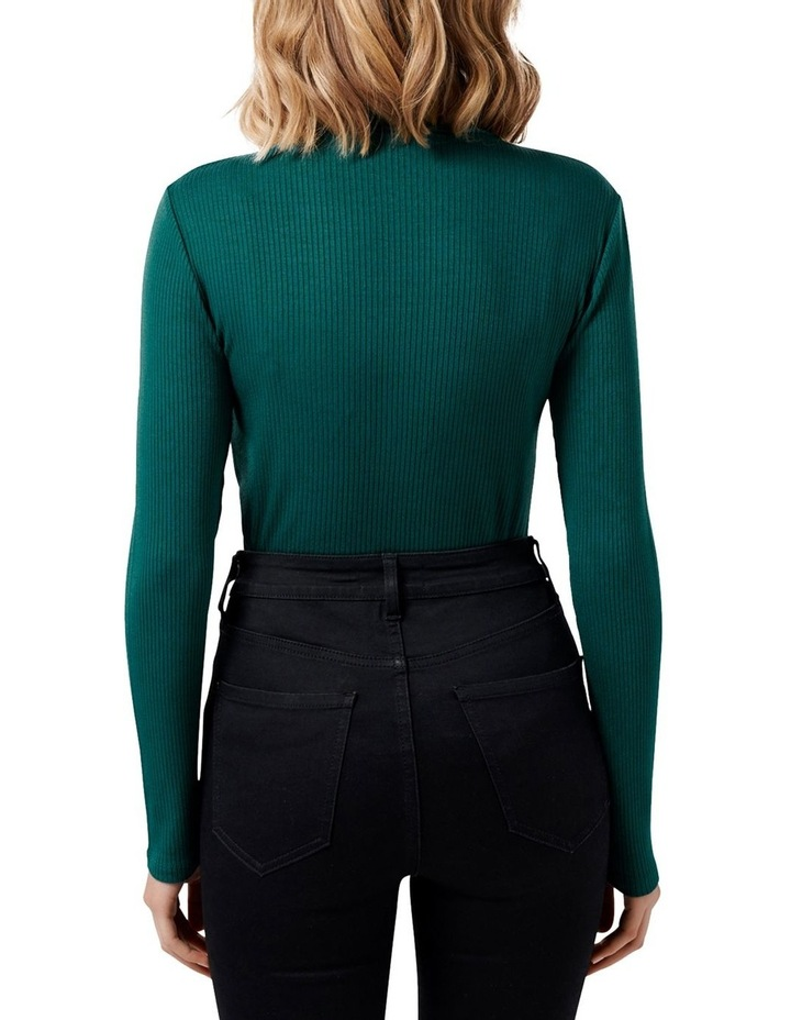 Brandi High Neck Rib Long Sleeve Top image 3