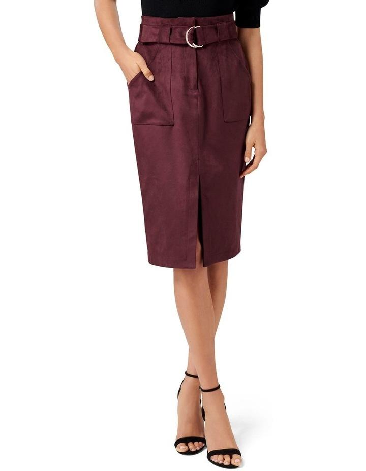 Mel Suedette Utility Pencil Skirt image 1