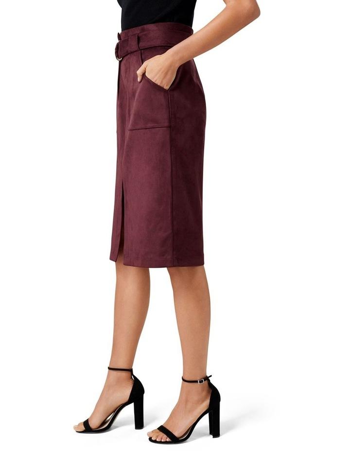 Mel Suedette Utility Pencil Skirt image 2