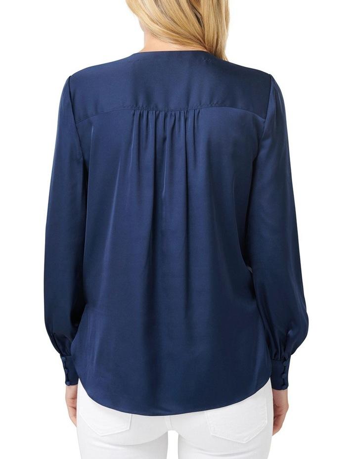 Sandra Gathered Yoke Wrap Shirt image 3