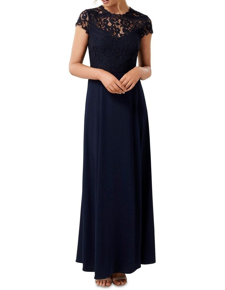 Macie Cap Sleeve Lace Bodice Gown image 1