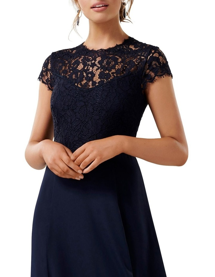 Macie Cap Sleeve Lace Bodice Gown image 2