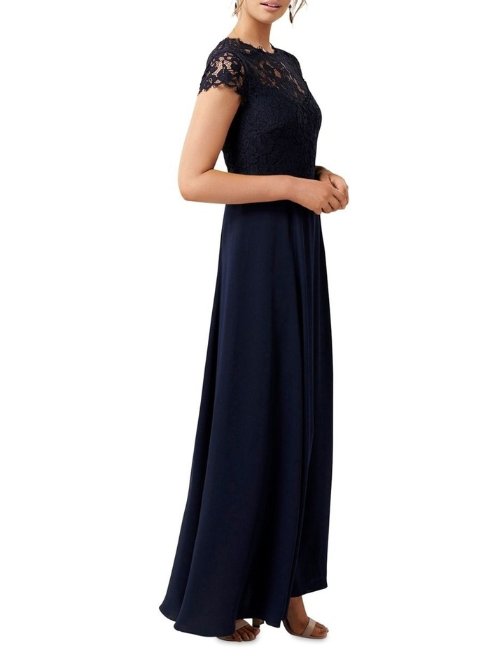 Macie Cap Sleeve Lace Bodice Gown image 3