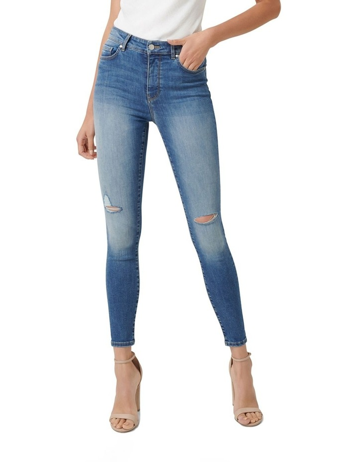 Zoe Mid Rise Ankle Grazer Jeans image 1
