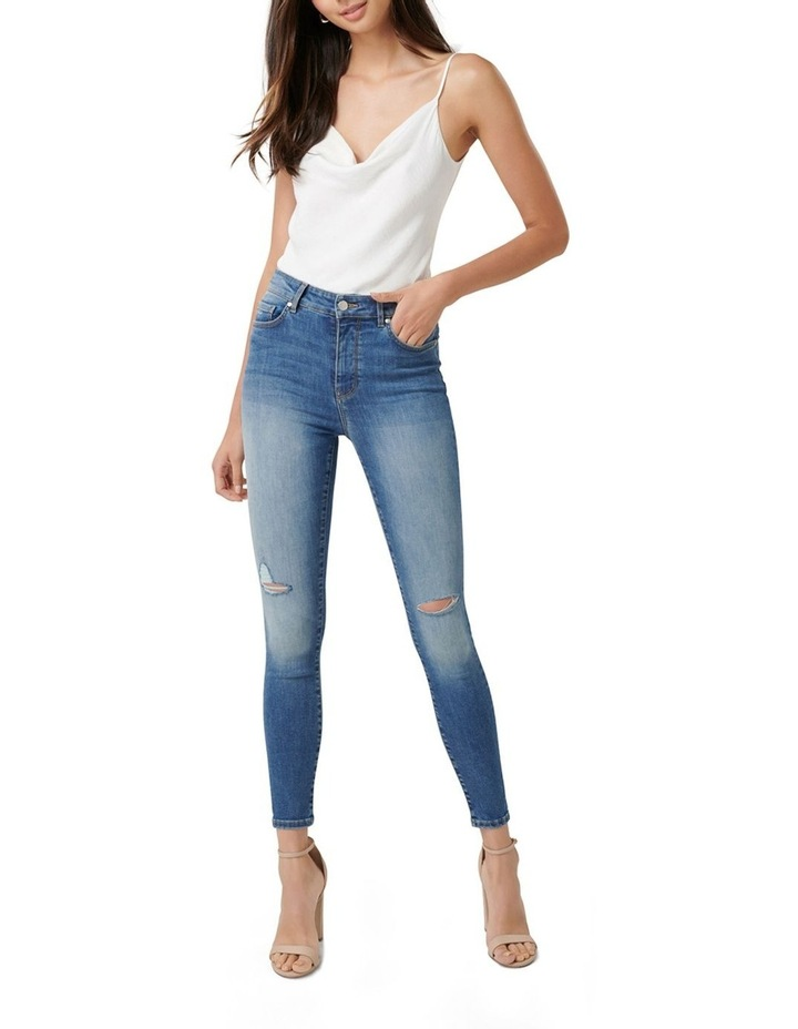 Zoe Mid Rise Ankle Grazer Jeans image 4
