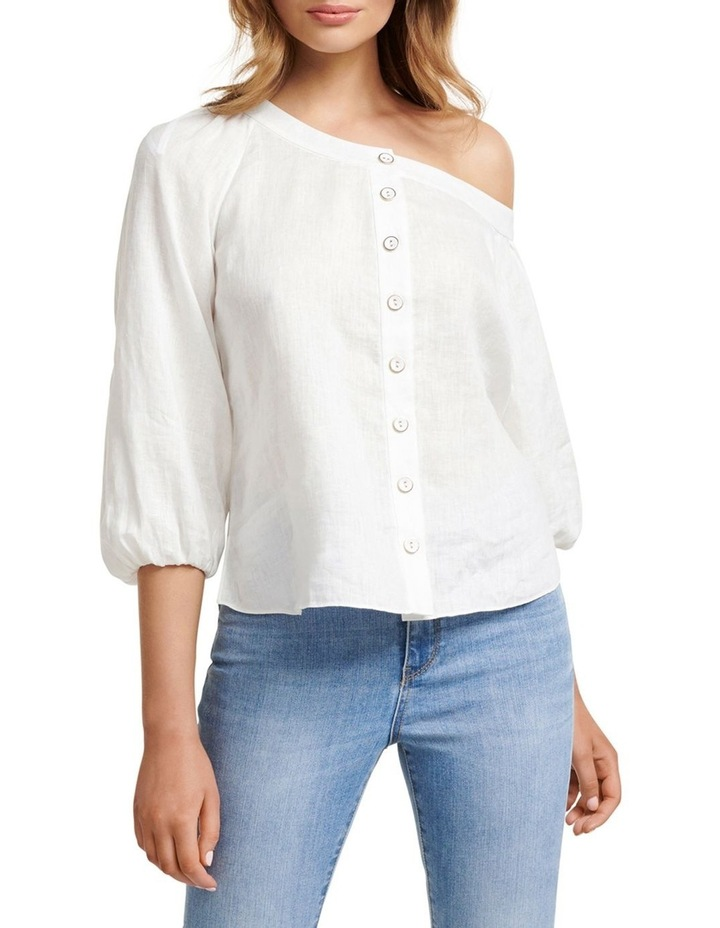 Posie Tipped Shoulder Blouse image 1