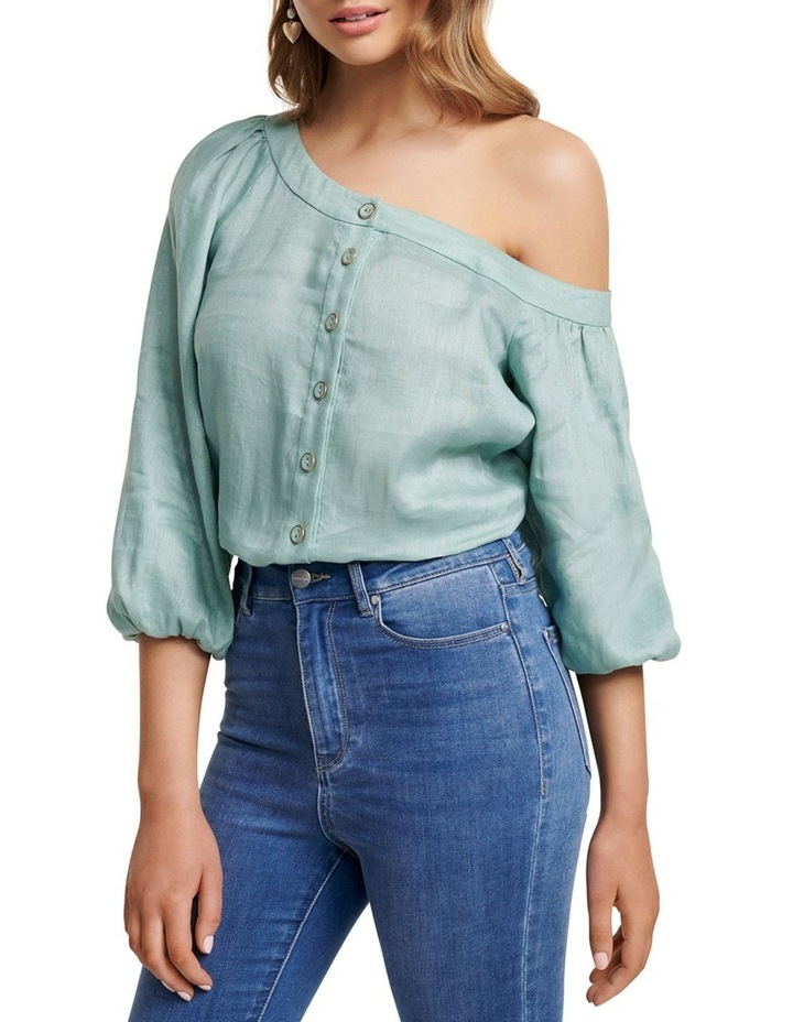 Posie Tipped Shoulder Blouse image 2