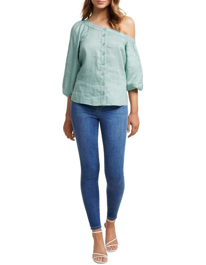 Posie Tipped Shoulder Blouse image 5