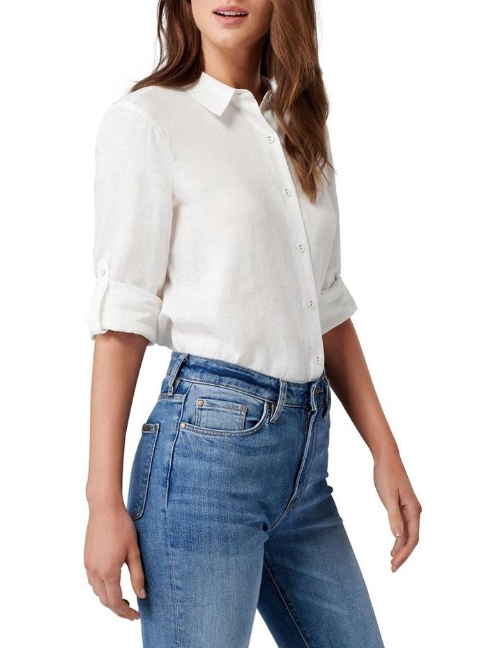 Viviana Long Sleeve Linen Shirt image 3